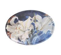 Bricka (oval), Vita liljor